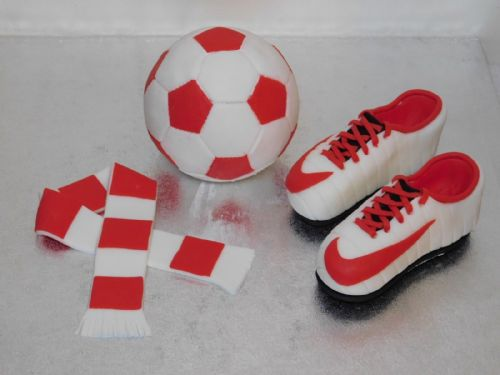 Football Boots, Scarf & Football Cake Toppers